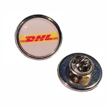 Premium Badge 18mm round silv clutch and printed dome